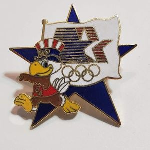 Accessories - Running Olympic Pin Sam the Eagle 1984 LA